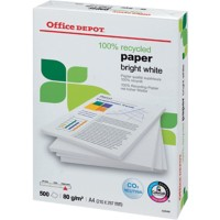 Office Depot Recycled papier A4 80 g/m² Ultra wit 150 CIE 500 Vellen
