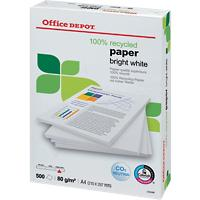 Office Depot Bright White 100% Recycled print-/ kopieerpapier A4 80 gram Ultra wit 150 CIE 500 vellen