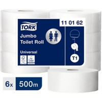 Tork Toiletpapier T1 Advanced Jumbo 1-laags 6 Rollen à 2500 Vellen