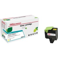 Office Depot Compatibel Lexmark 70C2HY0 Tonercartridge Geel