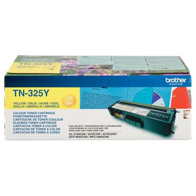 Brother TN-325Y Origineel Tonercartridge Geel Geel