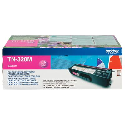 Brother TN-320M Origineel Tonercartridge Magenta Magenta