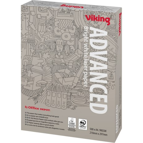Viking Advanced Papier A4 90 g/m² Wit 500 vel