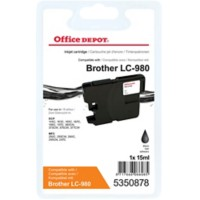 Office Depot Compatibel Brother LC980BK Inktcartridge Zwart