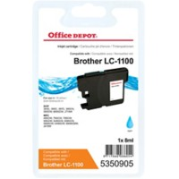 Office Depot Compatibel Brother LC1100C Inktcartridge Cyaan