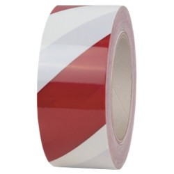 Office Depot Waarschuwings tape WA-5066R 50 mm x 66 m Rood, wit