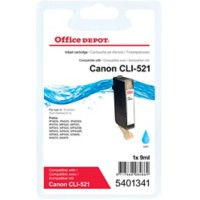 Office Depot Compatibel Canon CLI-521C Inktcartridge Cyaan