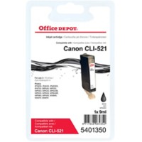 Office Depot Compatibel Canon CLI-521BK Inktcartridge Zwart