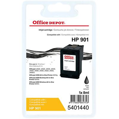 Office Depot Compatibel HP 901 Inktcartridge CC653A Zwart