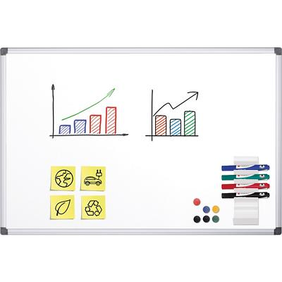 Office Depot Wandmontage Magnetisch Whiteboard Emaille 150 x 100 cm