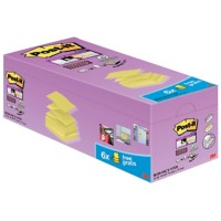 Post-it Z-Notes 76 x 76 mm Canary Yellow Geel 90 Vellen Voordeelpak 16 + 4 GRATIS
