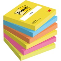 Post-it Notes 76 x 76 mm Energie Kleuren 6 Blokken van 100 Vellen