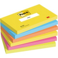 Post-it Notes 127 x 76 mm Energie Kleuren 6 Blokken van 100 Vellen