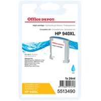 Office Depot Compatibel HP 940XL Inktcartridge C4907AE Cyaan