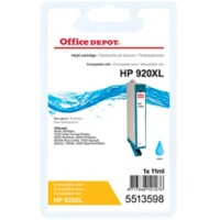 Office Depot Compatibel HP 920XL Inktcartridge CD972A Cyaan