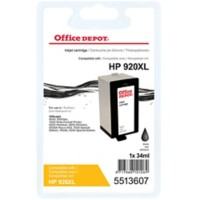 Office Depot Compatibel HP 920XL Inktcartridge CD975A Zwart