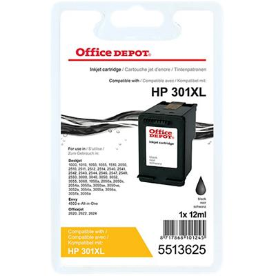Office Depot Compatibel HP 301XL Inktcartridge CH563EE Zwart