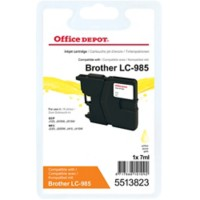 Office Depot Compatibel Brother LC985Y Inktcartridge Geel
