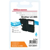 Office Depot Compatibel Brother LC985C Inktcartridge Cyaan