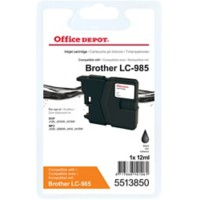Office Depot Compatibel Brother LC985BK Inktcartridge Zwart