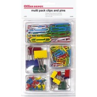 Office Depot Multipak Clips En Pinnen Kleurenassortiment Pak van 212