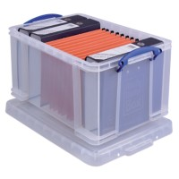 Really Useful Boxes Archiefboxen 48L Transparant Plastic 40,5 x 61 x 31 cm