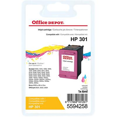 Office Depot Compatibel HP 301 Inktcartridge CH562EE Kleuren