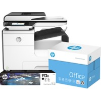 HP Printer Pagewide 477dw  + HP 973X Original Inktcartridge Zwart +  2500 vel HP Office Papier A4