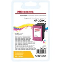 Office Depot Compatibel HP 300XL Inktcartridge CC644EE Cyaan, Magenta, Geel