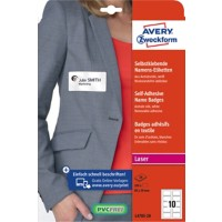AVERY Zweckform L4785-20 Naambadge-etiketten Wit