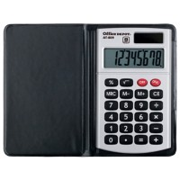 Office Depot Zakrekenmachine AT-809 8-cijferige display Zilvergrijs