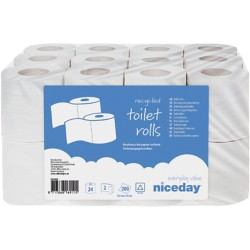 Niceday Toiletpapier 2-laags 24 rollen à 200 vellen