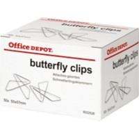 Office Depot Vlinder Paperclips 57mm Zilver Pak van 50