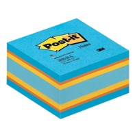 Post-it Kubusblok 76 x 76 mm Blauw, geel, oranje 450 Vellen
