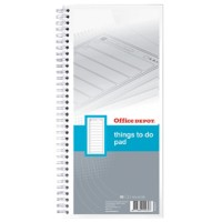 Office Depot Things to Do Notitieblok Wit Gelinieerd Geperforeerd 29,7 x 14 cm 14 x 29,7 cm 70 g/m² 80 Vellen