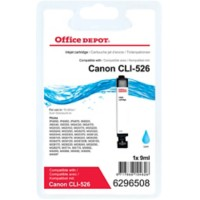 Office Depot Compatibel Canon CLI-526C Inktcartridge Cyaan