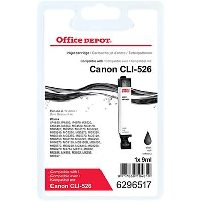 Office Depot Compatibel Canon CLI-526BK Inktcartridge Zwart