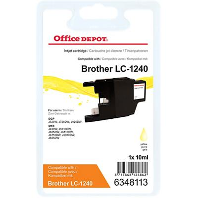 Office Depot Compatibel Brother LC1240Y Inktcartridge Geel