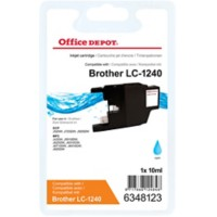 Office Depot Compatibel Brother LC1240C Inktcartridge Cyaan