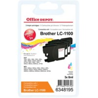 Office Depot Compatibel Brother LC1100 Inktcartridge 3 Kleuren 3 Stuks