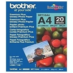 Brother BRBP71GA4 Glossy fotopapier A4 glanzend 260 g/m² 210 x 297 mm Wit