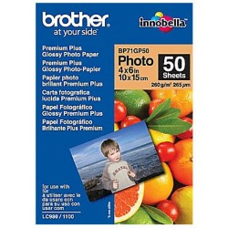 Brother BRBP71GP50 Glossy fotopapier A6 glanzend 190 g/m² 100 x 150 mm Zwart, kleur