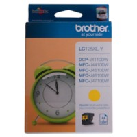 Brother LC125XLY Origineel Inktcartridge Geel