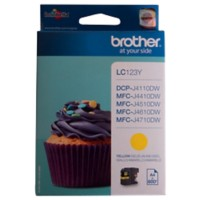 Brother LC123Y Origineel Inktcartridge Geel