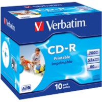 Verbatim Printable CD-R 52x 700 MB - 80 min Jewelcase 10 Stuks