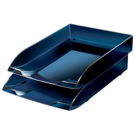 Office Depot Brievenbakje Midnight Blue C4 polystyreen 8,2 x 31 x 26,5 cm