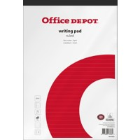 Office Depot A4+ Notitieblok Wit Softcover Gelinieerd Geperforeerd 5 stuks à 100 vellen