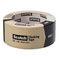Scotch Afplaktape Basic 48 mm x 50 m Beige
