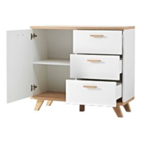 GERMANIA Commode Oslo Eiken/Wit 97 x 40 x 87 cm