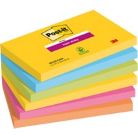 Post-it Zelfklevende notes 76 x 127 mm Kleurenassortiment 6 Stuks à 90 Vellen